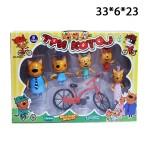 Набор Три кота с велосипедом