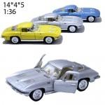 Модель машины Kinsmart 1963 Corvette Sting ray Масштаб 1:36