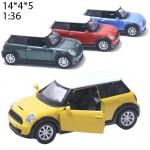 Модель машины Kinsmart Mini Cooper s 2012 Масштаб 1:30