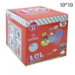 Кукла сюрприз LOL в шарике 21 серия 1шт. Красный