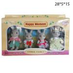 Фигурки семья кроликов 4 шт.
