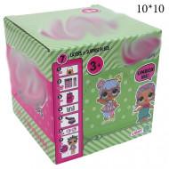 Кукла сюрприз конфетти зеленая упаковка