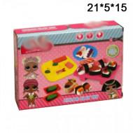 Набор для лепки из пластилина Суши, Роллы Куколки сюрприз