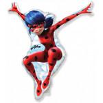 Шар (13''/33 см) Мини-фигура, Леди Баг, Красный, 1 шт.