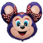 Воздушный шар (14''/36 см) Мини-фигура, Бабси-Маус, Фиолетовый, 1 шт.