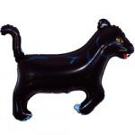 Воздушный шар (14''/36 см) Мини-фигура, Пантера, Черный, 1 шт.
