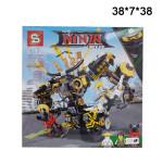 Конструктор (Ninja movie) Робот на колесе 702 дет.