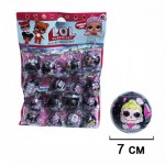 Кукла сюрприз LOL Черные на листе 16 шт. по 60 руб.