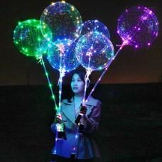 Шар круглый светящийся разноцветный 90 см. (три режима)