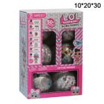 Кукла сюрприз LOL в шарике 6шт. Блестящие
