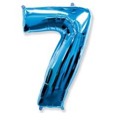Шар (40''102 см) Цифра, 7, Синий, 1 шт.