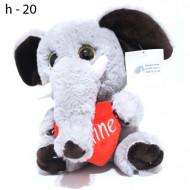 Мягкая игрушка Слоник с сердцем