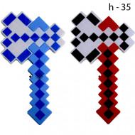 Топор Пиксель Майнкрафт (Minecraft) светящиеся, музыкальный