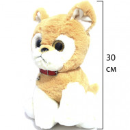 Мягкая игрушка Собачка Бульдог, с глазками