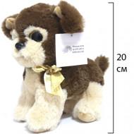 Мягкая игрушка Собачка стоячая, с глазками