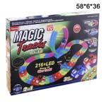 ГОНОЧНАЯ ТРАССА MAGIC TRACKS 216 деталей (муз. свет.) + петля