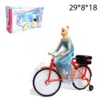 Кукла на велосипеде музыкальная, светящаяся