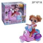 Кукла LOL на мотоцикле муз. свет.