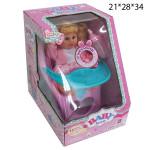 Кукла на детском стульчике интерактивная