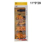 Набор машинок (Alloy toy) металлические желтые
