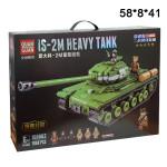 Конструктор (Is-2m Heavy Tank) Танк зеленый 1068 дет.
