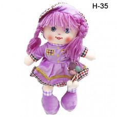 Мягкая кукла с косами в ассортименте