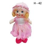 Кукла мягкая в платье в ассортименте