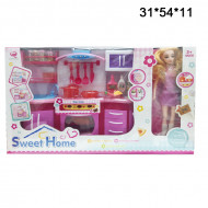 Набор кухни (Sweet Home ) с куклой барби