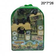 Конструктор кубики военный рюкзак