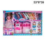 Домик с куклой гардероб большой