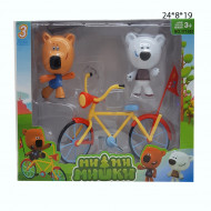 Набор мишки на велосипеде