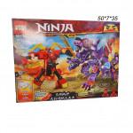 Конструктор (Ninja)  битва робота и дракона, светящиеся блоки.
