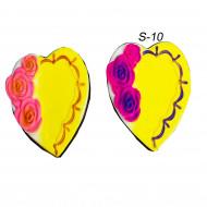 Сквиш Сердце с розой