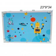 Набор для школьника ( творчества ) в чемодане голубой