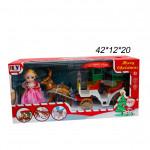 Набор (Merry Christmas) Принцесса ,карета ,олени