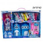 Набор (Dream Castle ,Frozen  ) кукла,домик ,гардероб