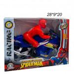 Мотоцикл  с пауком ( Spider-Man) музыкальный светящийся