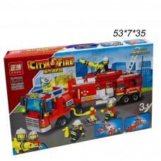 Конструктор (City Fire) Пожарная Машина и спасатели 678 дет.