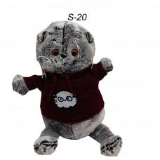 Мягкий Котик Басик в свитере маленький