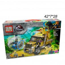 Конструктор  Динозавр на машине в атаку 295 дет .