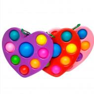 Антистресс пупырка Симпл Димпл (Попит) Сердце , цвет в ассорт, брелок