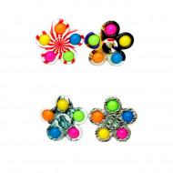 Антистресс пупырка Симпл Димпл (Попит) Спиннер 5 цветов ,с принтами
