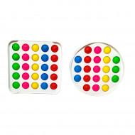 Антистресс пупырка Попит (Pop It) С твёрдой рамкой многоцветный