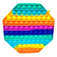 Антистресс пупырка Попит (Pop It) Октагон радуга ,средний