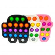 Антистресс пупырка Попит (Pop It) Амонг Ас в твёрдой рамке, цвет в ассорт.