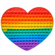 Антистресс пупырка Попит (Pop It) Сердце ,радуга ,большое