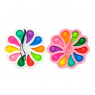 Антистресс пупырка Симпл Димпл (Попит) Спиннер цветок  ,брелок ,Большой