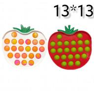 Антистресс пупырка Попит (Pop It) в твердой рамке фрукты в ассортименте