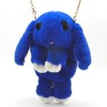 Сумка - рюкзак Синяя (искусственный мех)