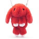 Сумка - рюкзак Красная (искусственный мех)